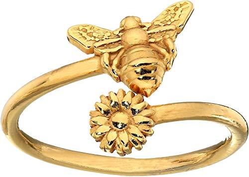 Alex and Ani Women's Ring Wrap Bee Rafaelian Gold adjustable