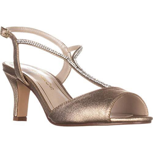 Caparros Womens Delicia Open Toe Special Occasion, Gold Metallic, Size 9.5