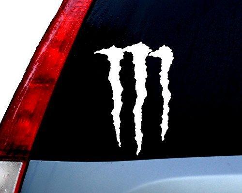 Monster Energy Racing Logo Decal Vinyl Sticker|Cars Trucks Vans Walls Laptop| WHITE |5.5 x 3.75 in|CCI647