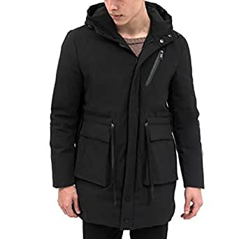 Mens Black Down Jackets Winter Super Warm Goose Long