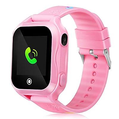 Smart Watch for Kids IP67 Waterproof Kids Smart Watch for Girls Boys with GPS Tracker SOS Camera Game 1.44 inch Touch Screen Sport Fitness Tracker Smart Watch