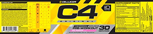 Cellucor C4 Original Pre Workout Powder Energy Drink w/ Creatine, Nitric Oxide & Beta Alanine, Pink Lemonade, 30 Servings