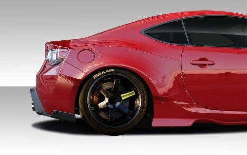 Duraflex Replacement for 2013-2016 Scion FR-S Toyota 86 BRZ GT500 Wide Body Rear Fenders - 4 Piece