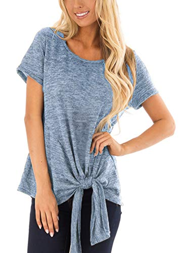 Womans Tops Trendy Clothes Summer Shirts St. Patrick's Day Casual Tunic Blue XL -