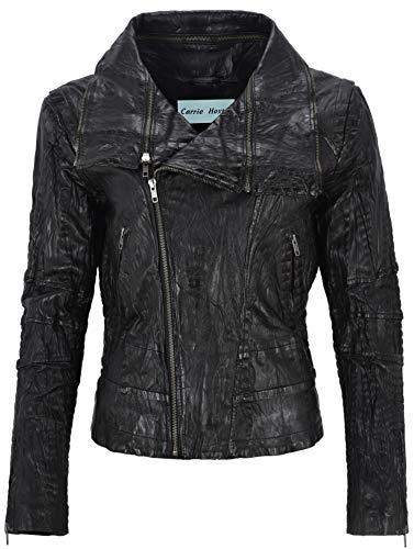 07883f4abe Moda Croc De Efecto Range Retro Con Negro Estampado Chaqueta Para 5062  Cuero Mujer Cocodrilo Smart TH7wxzz