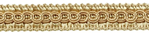 DÉCOPRO 54 Yard Package of 1/2 inch Basic Trim Decorative Gimp Braid, Style# 0050SG Color: Beige - A4 (164 Ft / 50 Meters) by DÉCOPRO