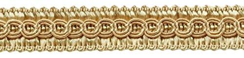 13.5 Yards of 1/2 Basic Trim Decorative Gimp Braid, Style# 0050SG Color: Beige - A4, (41 Ft / 12.5 Meters) DecoPro