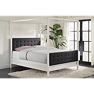 DHP Soho Canopy Bed, White, Queen