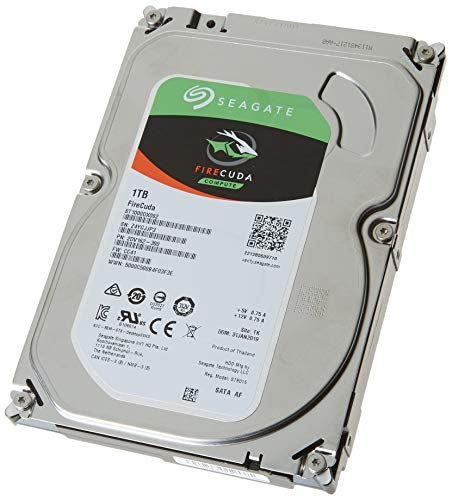Seagate FireCuda 1TB Solid State Hybrid Drive Performance SSHD - 3.5 Inch SATA 6Gb/s Flash Accelerated for Gaming PC Desktop - Frustration Free Packaging (ST1000DX002)