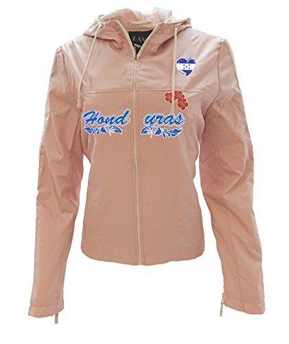 Zava Fashion Women Windbreaker Jacket Honduras Color Blue-Pink-White (Medium, Pink) (Honduras Jacket)