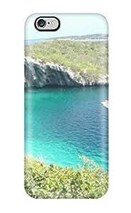 High Quality ZippyDoritEduard Aqua Sea Waves Plants Hills Amp Digital Skin Case Cover Specially Designed For Iphone - 6 Plus