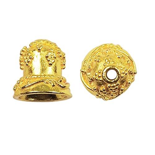18K Gold Overlay Bead Cap CG-376 12x11MM