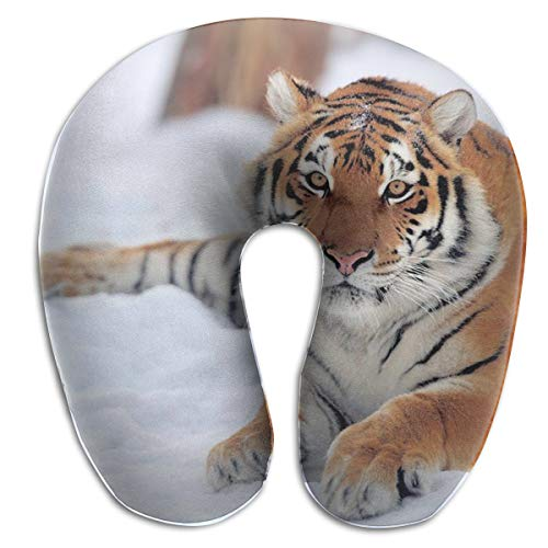 NEHomer Snow Tiger U-Pillow,Ideal Home Memory Foam Neck Pillow Light Travel Car Rest Airplane Office Comfortable U-Shaped Pillow Neck Pillow Back Cushion]()