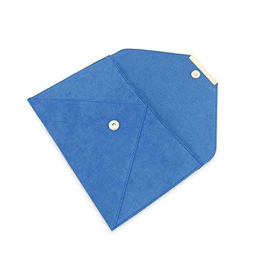 Femmes Aimant Enveloppe Faux Bleu ne Cha Monnaie Suede D'embrayage Bracelet DSUK Porte ap7q1w1
