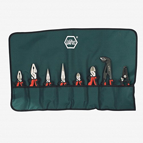 Wiha 30998 Ergo Soft Grip Industrial Set In Canvas Pouch, 8 Piece Set by Wiha