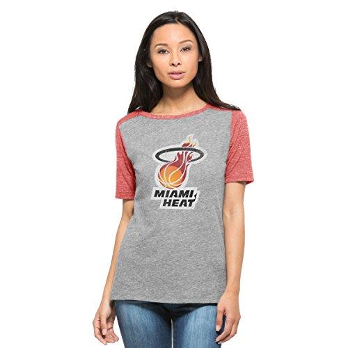(NBA Miami Heat Women's '47 Empire Tee, Vintage Grey, Large)