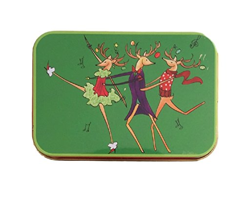 Christmas gift card tin boxes reindeer and brights pack