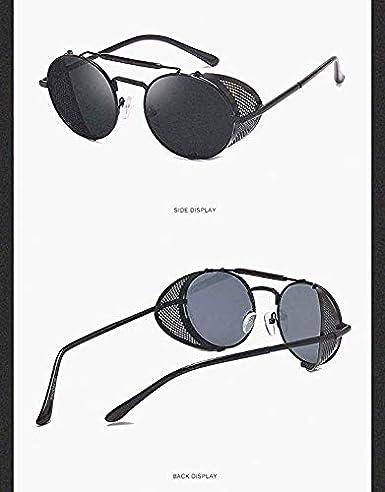 Amazon.com: Demon Crowley - Gafas de sol redondas de metal ...