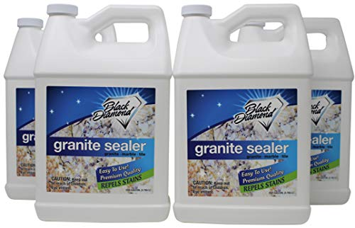 Granite Sealer: Seals and Protects, Granite, Marble, Travertine, Limestone and Concrete Counter Tops. Works Great On Grout, Fireplaces and Patios. 4-Gallons