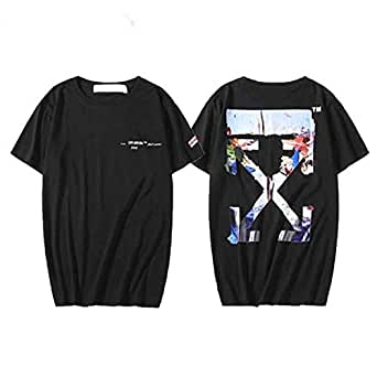Off-White Black Multicolor Printed Logo On The Back
