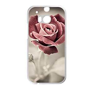 glam red flower personalized high quality cell phone case for HTC M8 by Maris's Diaryby Maris's Diary