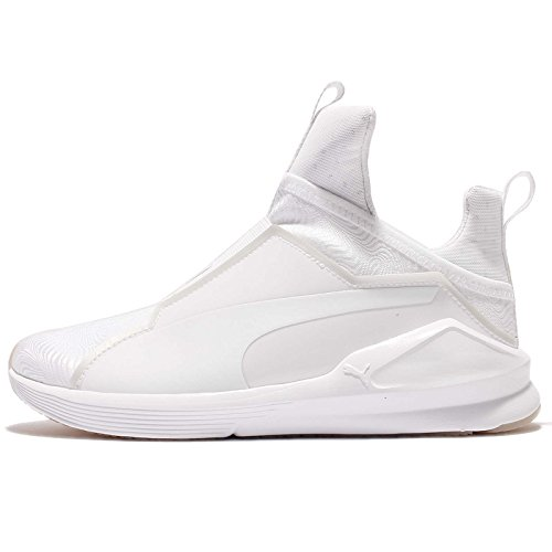 Puma, Donna, Fierce Bright White, Tessuto tecnico, Sneakers Alte, Bianco