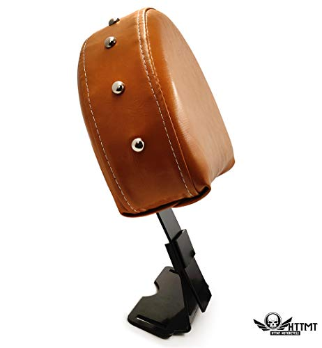 SMT- ISBB002-QUICK RELEASE DRIVER BACKREST Studded Brown Compatible With 2014-UP INDIAN CHIEF/CHIEFTAN [B07R3DTS6T]