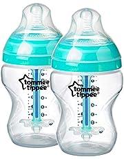 Tommee Tippee Advanced Anti Colic Feeding Bottle, Clear, 260mL (2 X 260mL)