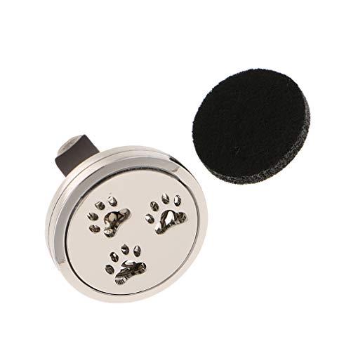 MagiDeal Auto Coche Ambientador Ventilación Clip de Salida de Aire Perfume Duradera Fragancia - Patrón Patas de Perrito