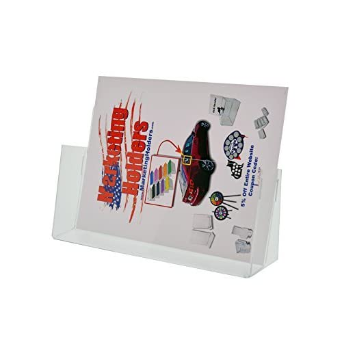 """Marketing Holders Clear Acrylic Counter Top Brochure Holder for """"11 x 8 1/2"""" Material (pack of 1)"""