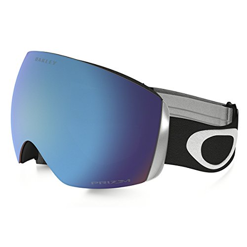 Oakley Men's Flight Deck (A) Snow Goggles, Matte Black, Prizm Sapphire Iridium, - Goggles Rimless Oakley
