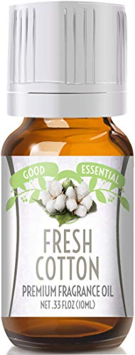 Fresh Cotton Scented Oil by Good Essential (Premium Grade Fragrance Oil) - Perfect for Aromatherapy, Soaps, Candles, Slime, Lotions, and -