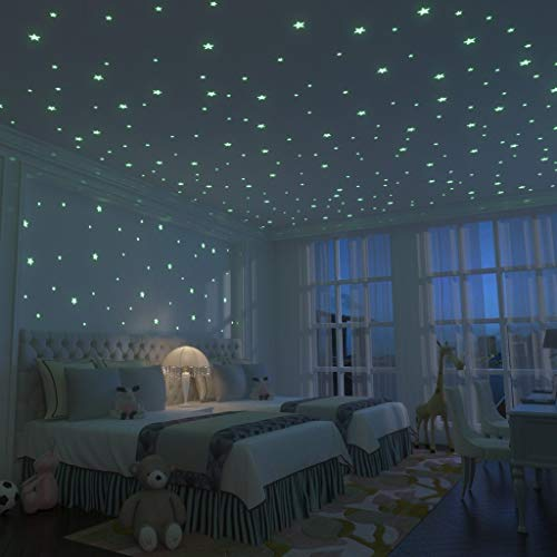 Glow Stars Supernova: 200 of the Brightest Glow in the Dark Stars | Boxed Set with Adhesive Putty, Mesh Pouch & FREE Constellation Guide | Glow In The Dark Ceiling Star Stickers For Bedrooms ()