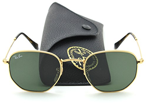 Ray-Ban RB3548N HEXAGONAL FLAT LENSES Sunglasses 001, - Hexagonal Ban Ray
