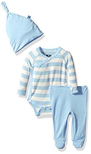 KicKee Pants Baby Boys' Newborn Kimono Gift Set, Pond Stripe, 0-3 Months