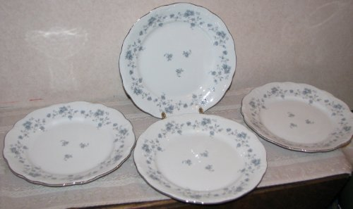 - Set of 4 Johann Haviland Bavaria Blue Garland Dinner Plates