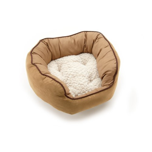 Neat Solutions for Pets Cozy Cuddler Embossed Polysuede, Toast/Tapioca, 14-Inch by 17-Inch, My Pet Supplies