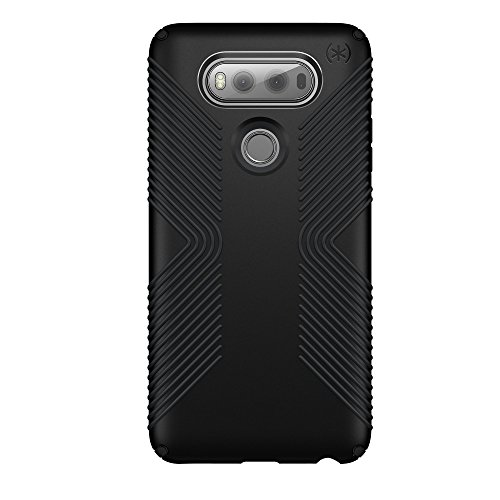 - Speck Presidio Grip Series Hybrid Slim Hardshell Case Cover for LG V20 - Black (Certified Refurbished)