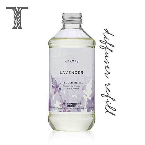Thymes - Lavender Aromatic Diffuser Oil Refill - Large Bottle with Calming Lavender Scent - 7.75 oz
