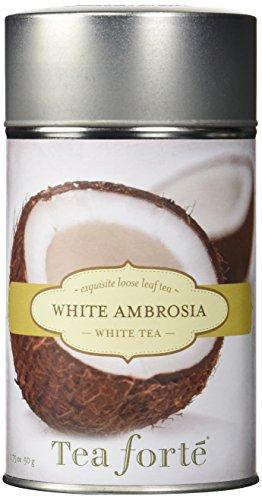 Tea Forte WHITE AMBROSIA Loose Leaf White Tea, 3.5 Ounce Tea Tin