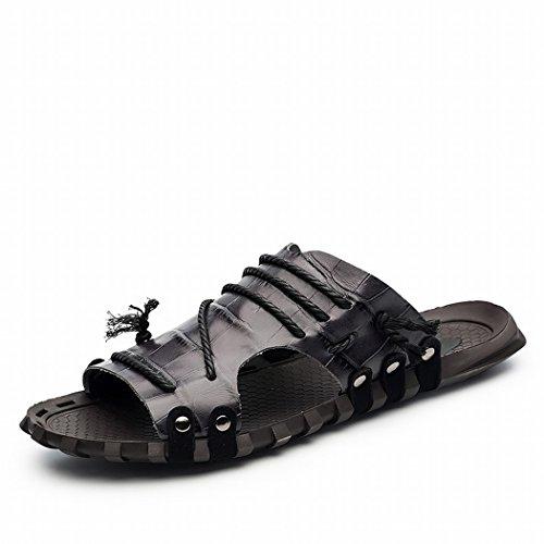 Samsay Heren Outdoor Outdoor Glijslof Sandaal Model-7551 Zwart