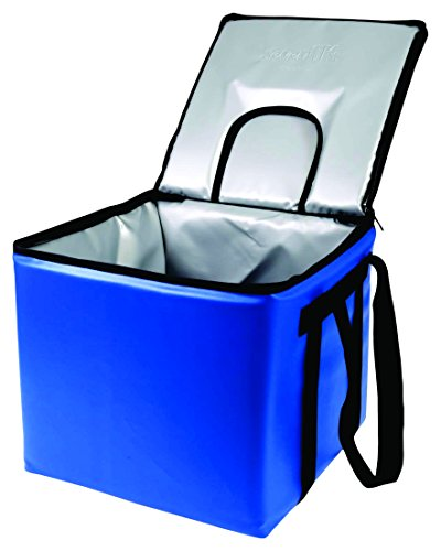 sevenOKs Krate Kooler-Royal Insulated Bag, Holds 1 Standard Size Milk Crate with Dispensing Lid, 15.5'' x 15.5'' x 14'', Royal by sevenOKs