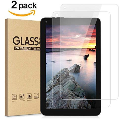 Dragon Touch V10 Screen Protector, BASSTOP High Definition Full Coverage 3D Touch Curved Scratch Resistant Tempered Glass Screen Protector for Dragon Touch V10 Android Tablet 10 inch -(2 Packs)