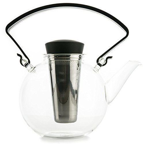 LIQUIDATION SALE - Glass Teapot with Infuser - Teapot for Loose Leaf Tea with Tea Strainer, Tea Maker for Hot & Iced Tea, Holds 3-4 Cups, 1.2 Liter | 40 oz