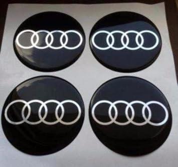 Audi 4 pieza 55 mm Pegatinas Emblema para llantas Buje Tapa Tapacubos: Amazon.es: Coche y moto