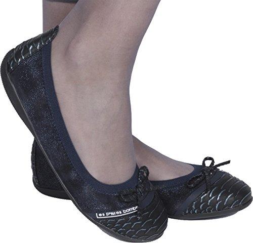 Les Ptites Bombs Womens Ballet Flats Marine Blauw
