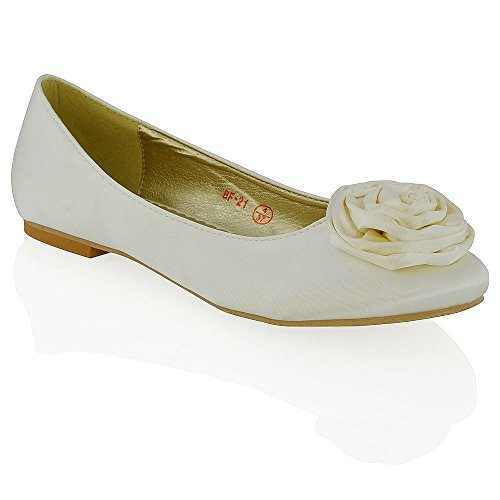 GLAMFlower Brillante Pumps Marfil Detail Ballet Mujer Essex 4wqT84d