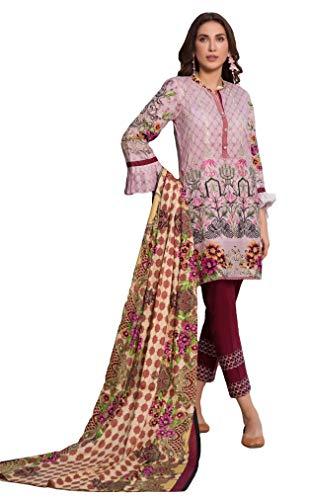 IshDeena Pakistani Dresses for Women Ready to Wear Salwar Kameez Ladies Suit - 3 Piece (Small, Pink - Embroidery Vol2)