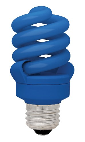 TCP CFL A19 60W Equivalent (14W) Compact Flourescent Blue Light Bulb by TCP