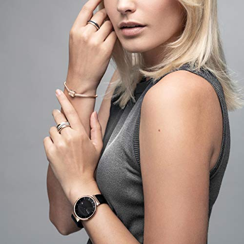 BERING Time 14639-166 Solar Collection Slim Watch with Mesh Strap and Scratch Resistant Sapphire Crystal. Designed in Denmark